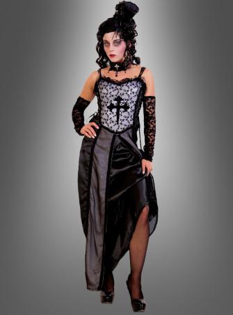 Schwarzes Gothic Kleid Vampirin