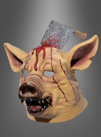 Geschlachtetes Schwein Maske