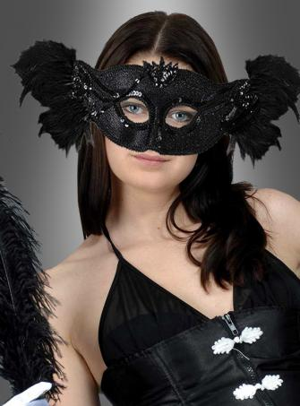 Dark Venice Feather Mask