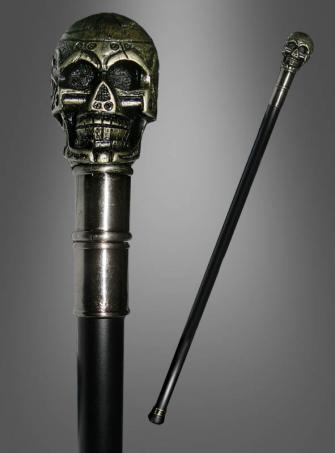 Totenkopf Spazierstock Cyber Skull
