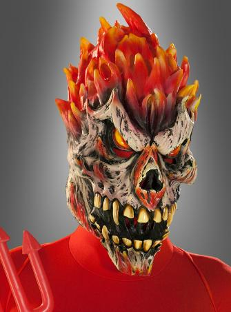 Flammenmonster Satan Maske