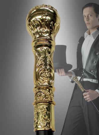 Eleganter Gehstock Goldgriff