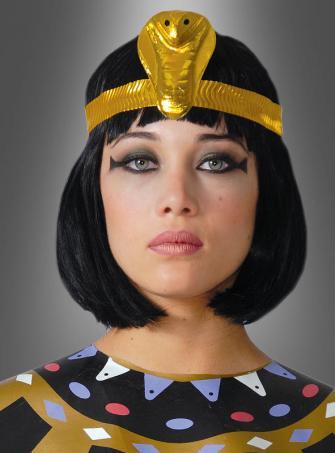 Goldene Kobra Kopfschmuck für Cleopatra