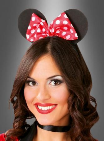 Maus Ohren mit roter Schleife