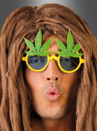 Cannabis Brille 70er Jahre