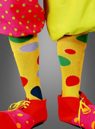 Clownstrümpfe mit Punkten