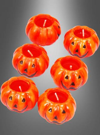 Six little Pumpkin Candles