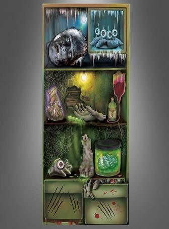 Kühlschranktür Deko Körperteile 75x150 cm