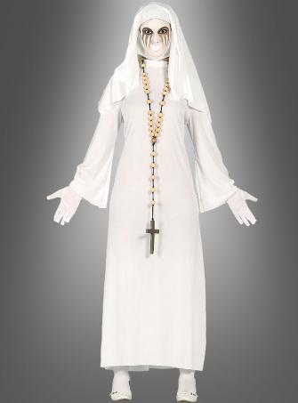 Böse Nonne Damenkostüm weiß
