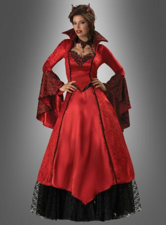 DELUXE Satin-Teufelin Kostüm