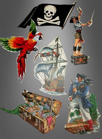Piratendekoration Zuschnitte Wanddeko