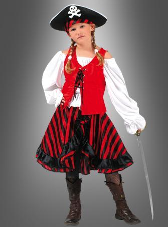 Pirate Girl Jacky Children Costume