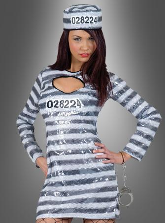 Gefangene Häftling Paillettenkleid