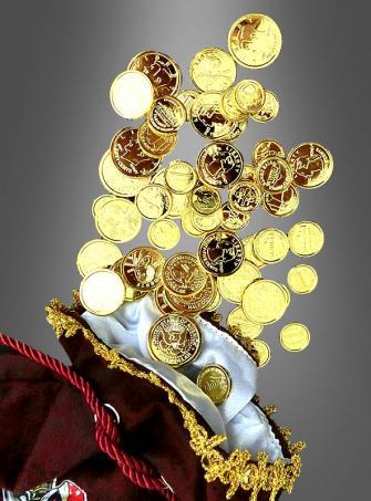 Goldmünzen Spielgeld