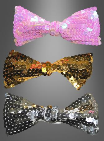 Sequins bow tie for clowns