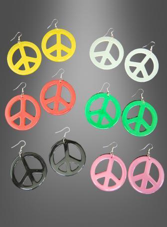 Hippie Ohrringe Peace versch. Farben