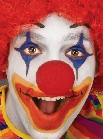 Clownnase Schaumstoff rot