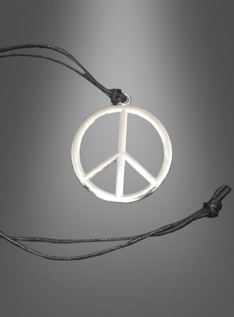 Hippie necklace with peace sign