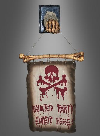 Haunted Party Arm mit Knochen-Banner