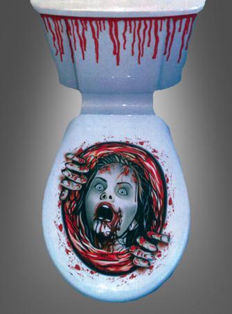 Halloweendeko für Toilettendeckel