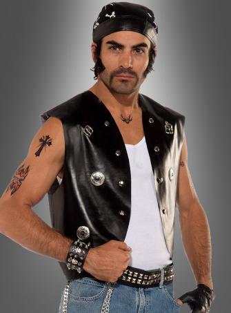 Weste Rocker Biker Kostüm