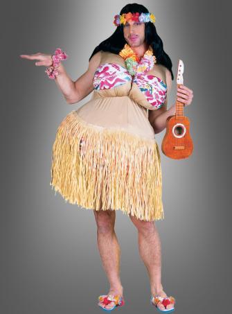 Hawaiikostüm Hulamädchen für Männer