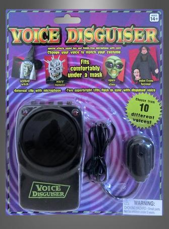 Stimmenverzerrer für Aliens und Monster
