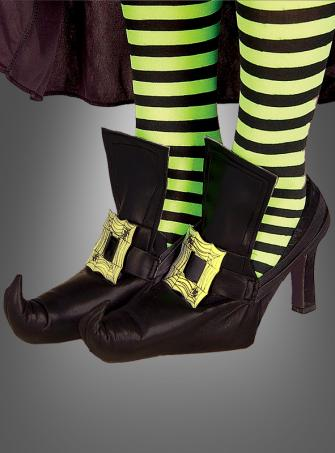 Witch shoe covers gold buckle