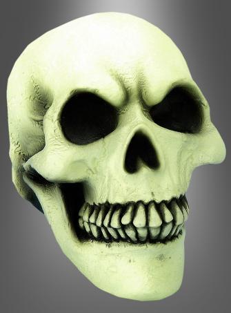 Totenkopf Schädel im Dunkeln leuchtend