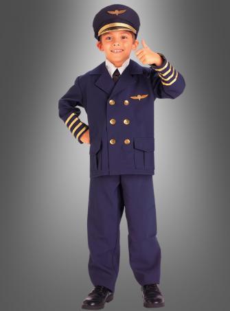 Kinderkostüm Pilot Flugzeugkapitän