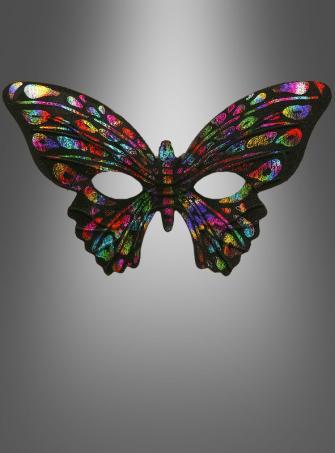 Augenmaske Schmetterling bunt