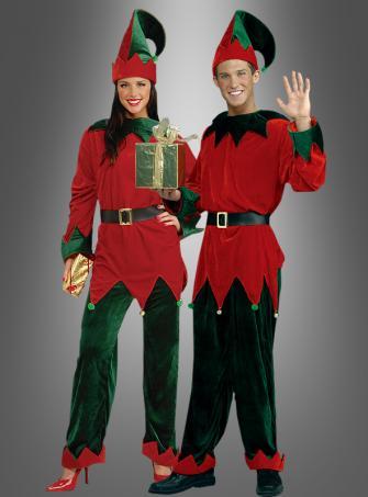 Weihnachtself Kostüm  unisex Santas Helfer