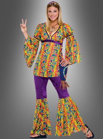 Flower Power Hippiekostüm Blumenkind