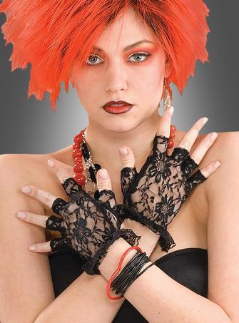 Fingerlose Handschuhe mit Spitzen