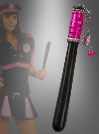 Polizistin Pink Schlagstock