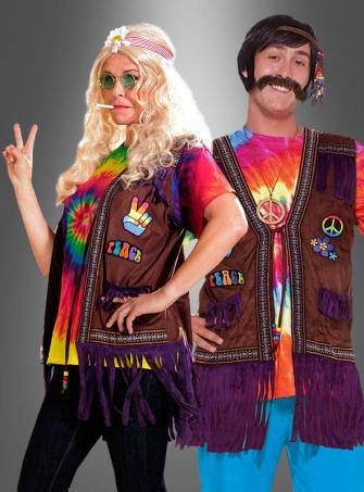 Hippie Peace Fransenweste Unisex