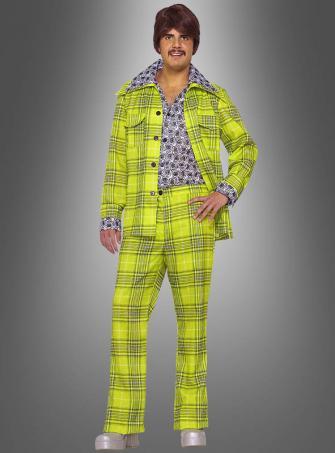 70er Kostüm karierter Anzug