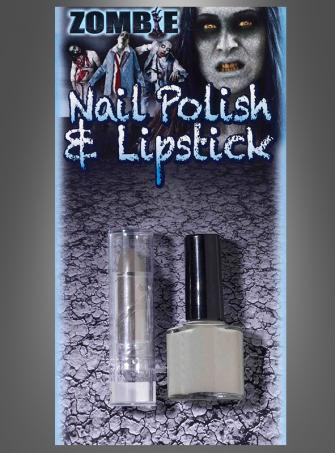 Zombie Nailpolish and Lipstick