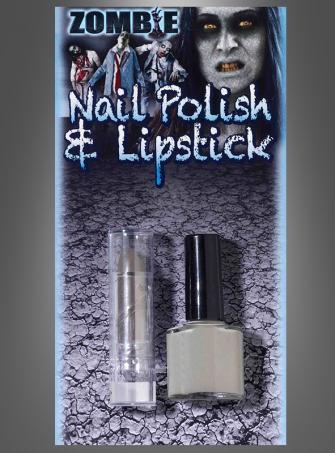 Zombie Nagellack und Lippenstift