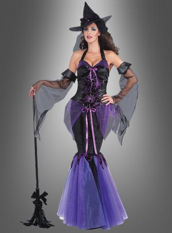 Lila Glamour Hexe Damenkostüm