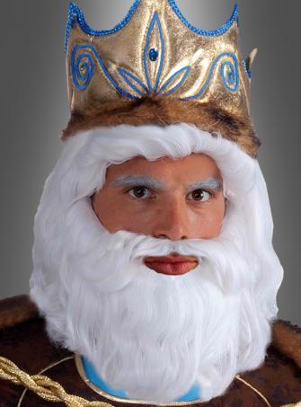 König Neptun Perücke und Bart