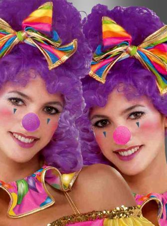Clownnase pink oder lila