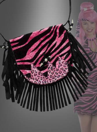 Pink Steinzeit Handtasche