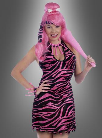Pink Steinzeitfrau Kostüm