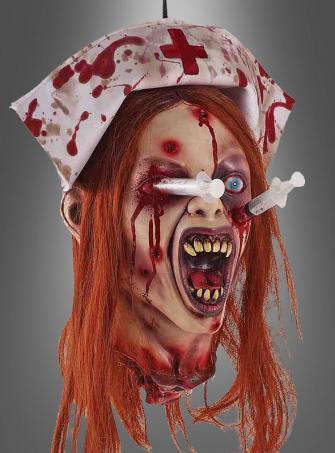 Zombie Krankenschwester Kopf