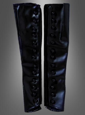 Black long Boot Spats Women