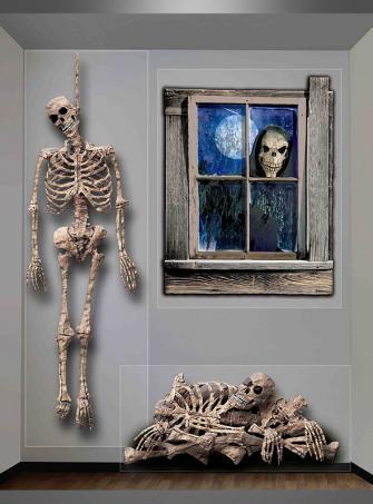 Spukhaus Wandfolie Skelette