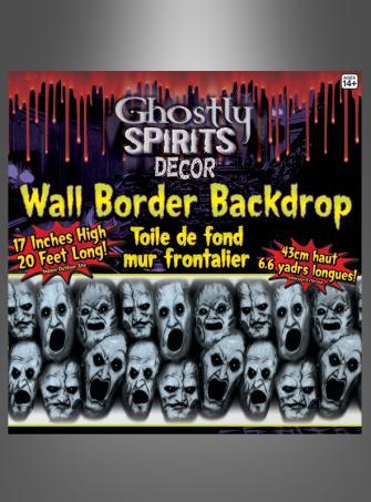 Schreiende Gesichter Horrorparty Wanddeko