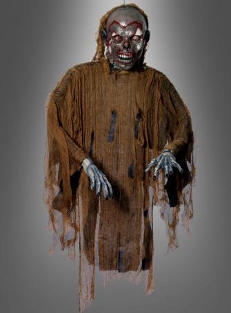 Hängender brauner Zombie Dekoration Länge 140 cm