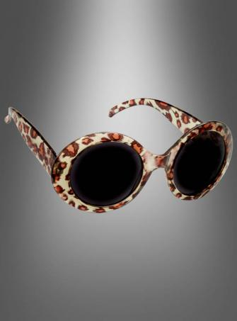 Retro Rock Leopard Glasses